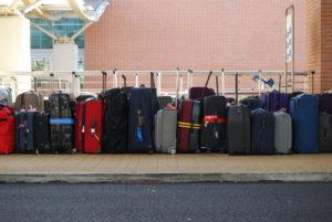 空港にある荷物