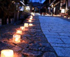 氷雪の灯祭り_岐阜_馬籠