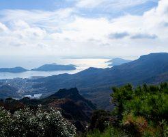 小豆島の寒霞渓からの景色_香川