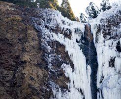 熊本県_古閑の滝_氷瀑